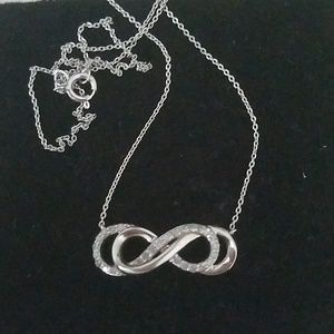 4 karat Double infinity Diamond Sterling